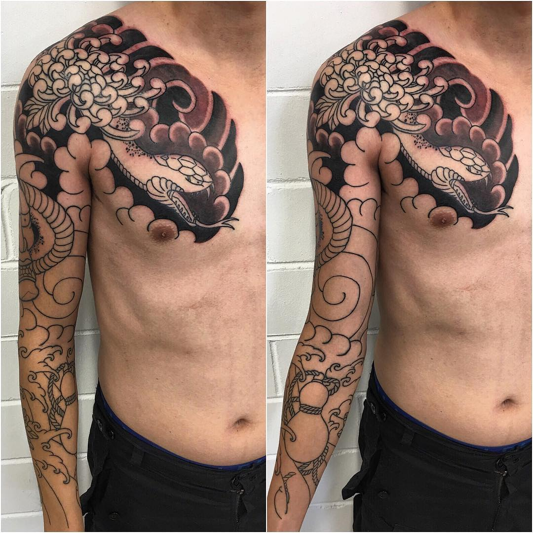 125 best japanese style tattoo designs meanings 2018. Black Bedroom Furniture Sets. Home Design Ideas