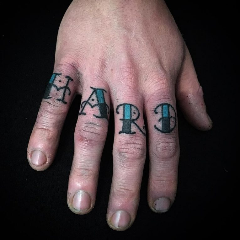 Knuckle Tattoo 111