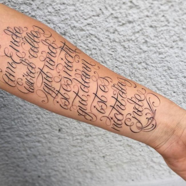 Lettering Tattoo 102