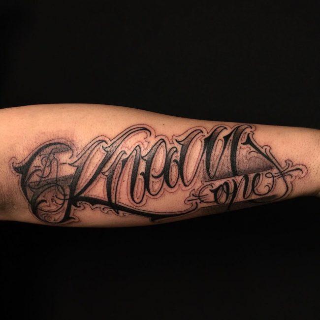 Lettering Tattoo 104