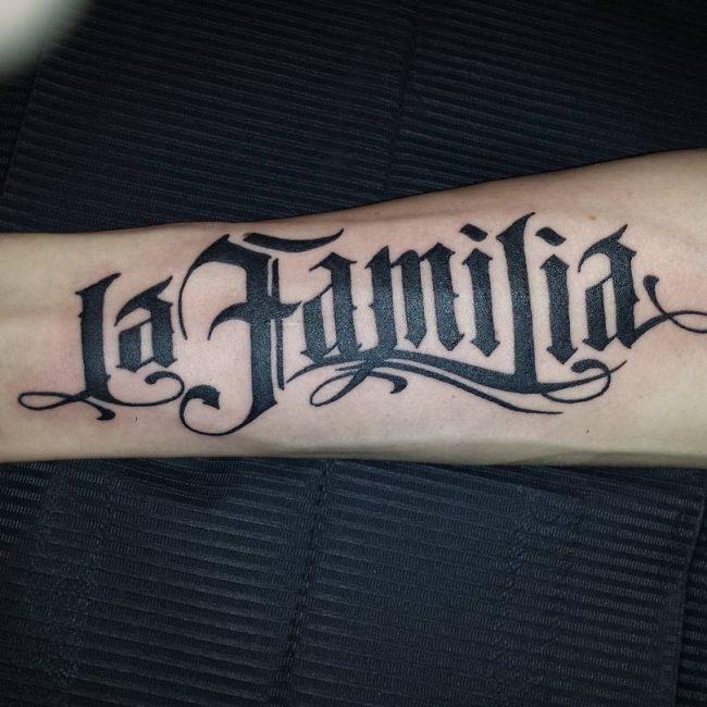 Lettering Tattoo 107