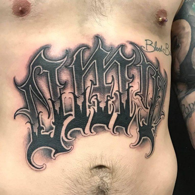 Lettering Tattoo 116