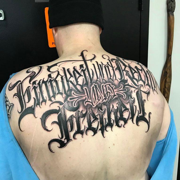 Lettering Tattoo 120