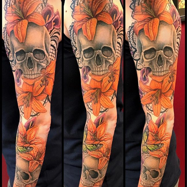 Lily Flower Tattoo 64