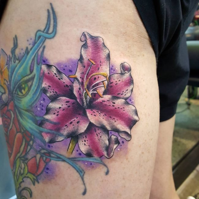 Lily Flower Tattoo 66