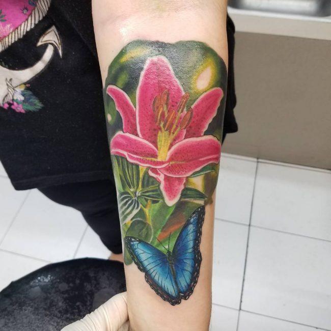 Lily Flower Tattoo 67