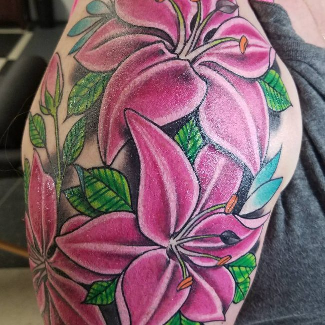 Lily Flower Tattoo 70