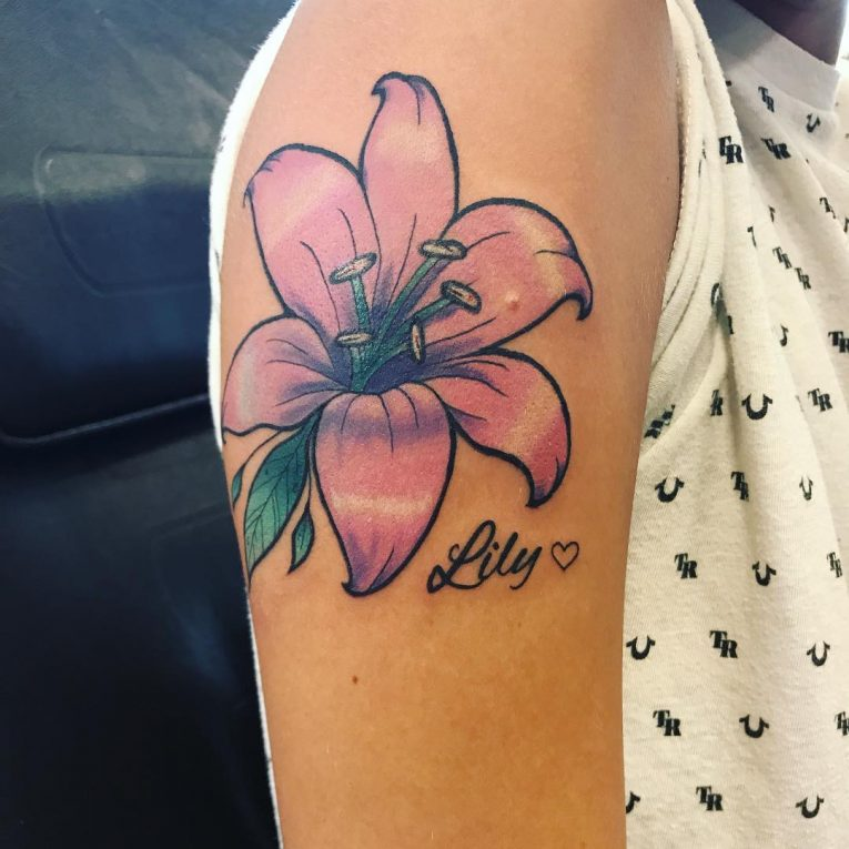 Lily Flower Tattoo 74