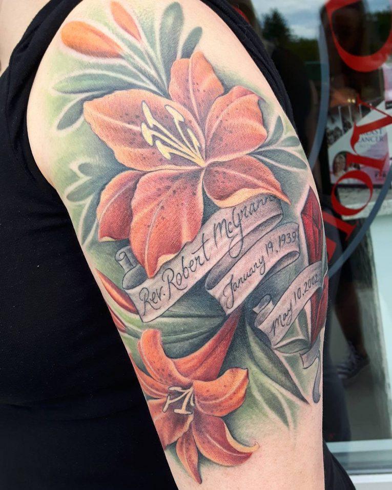 Lily Flower Tattoo 75