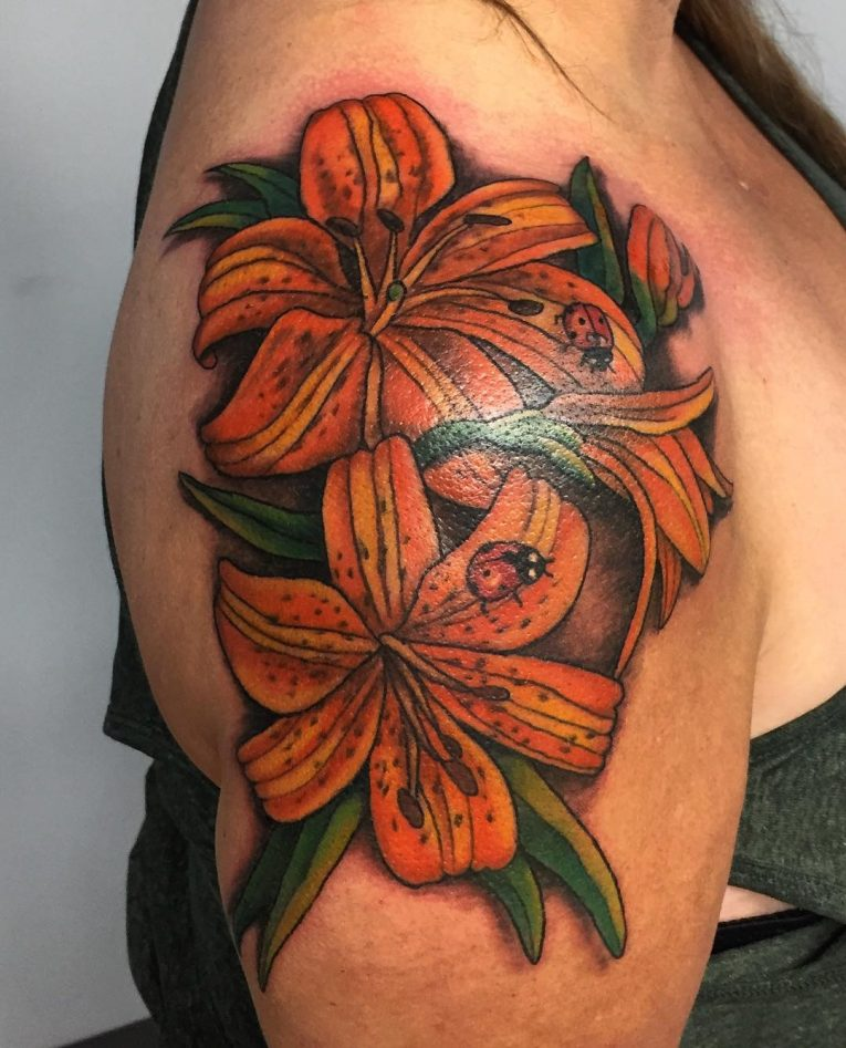 Lily Flower Tattoo 80