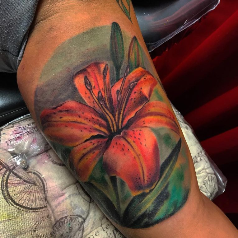 Lily Flower Tattoo 81