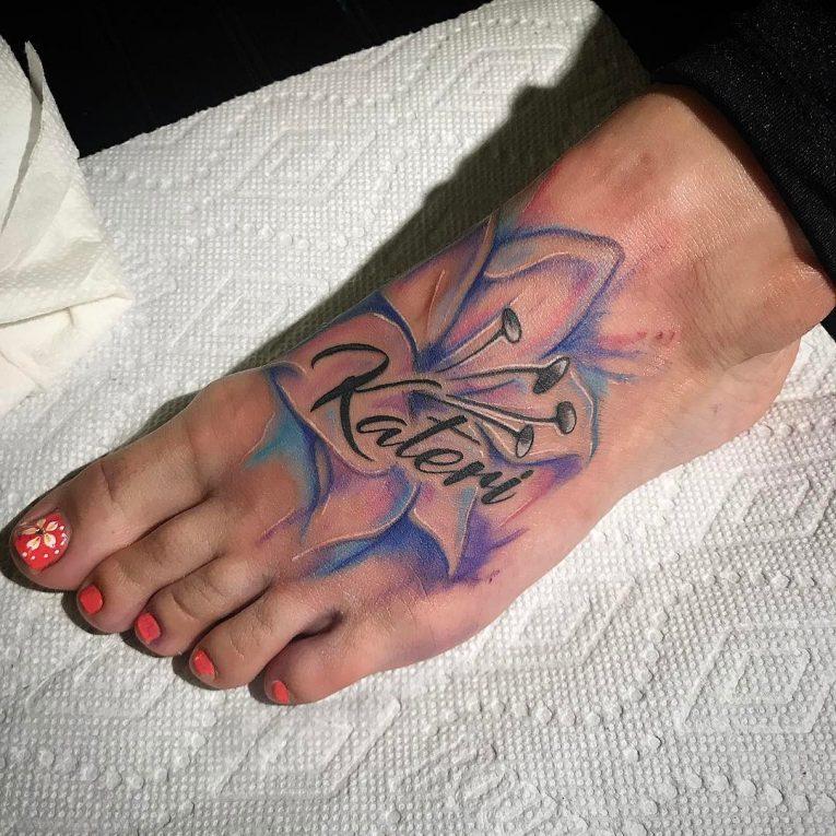 Lily Flower Tattoo 82