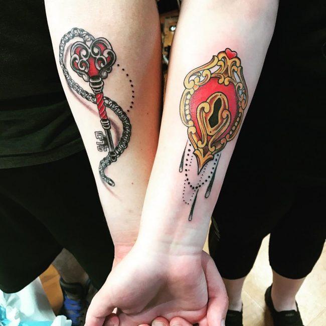 Lock and Key Tattoo 66