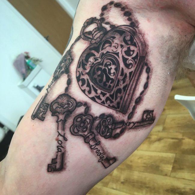 Lock and Key Tattoo 67
