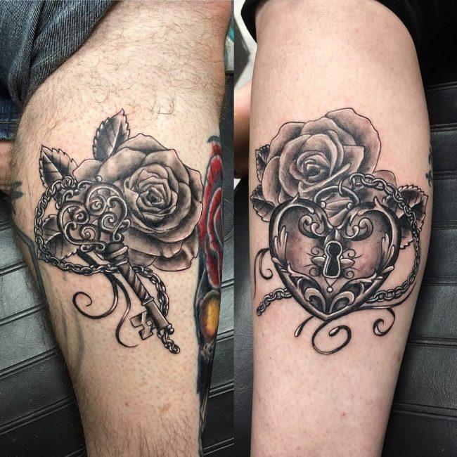 Lock and Key Tattoo 68