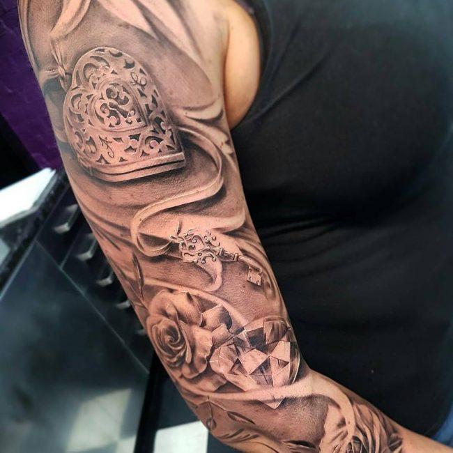 Lock and Key Tattoo 69