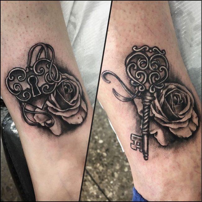 Lock and Key Tattoo 70