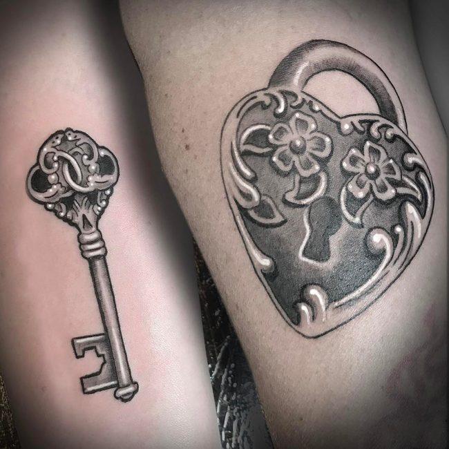 Lock and Key Tattoo 71