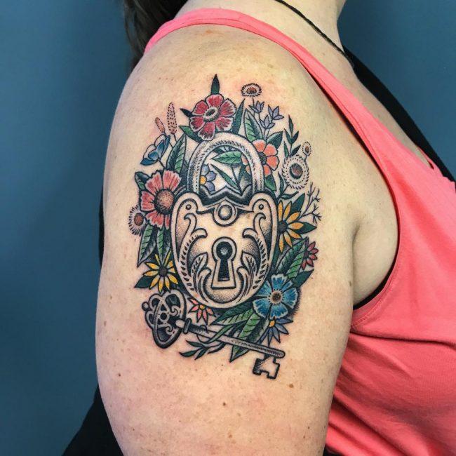 Lock and Key Tattoo 72