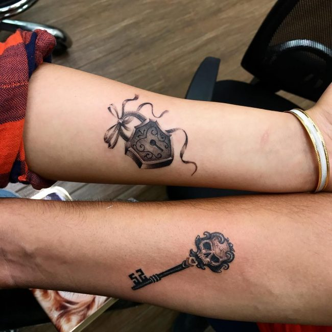 Lock and Key Tattoo 73