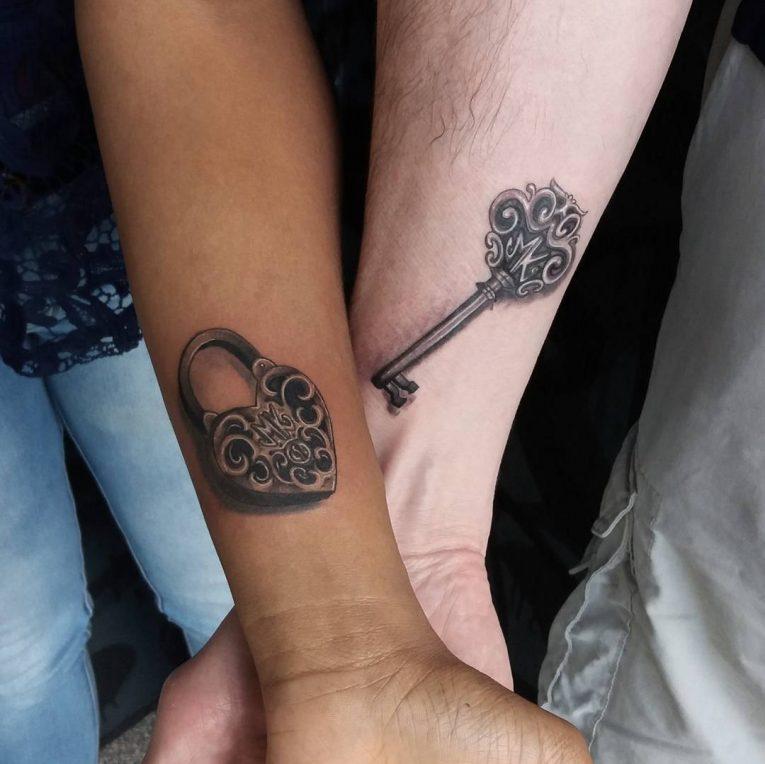 Lock and Key Tattoo 76