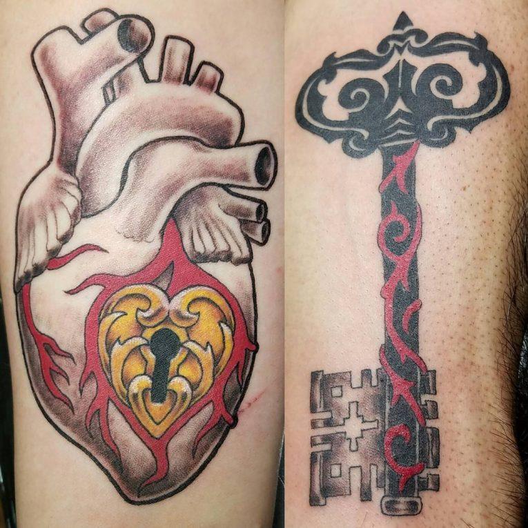 Lock and Key Tattoo 83