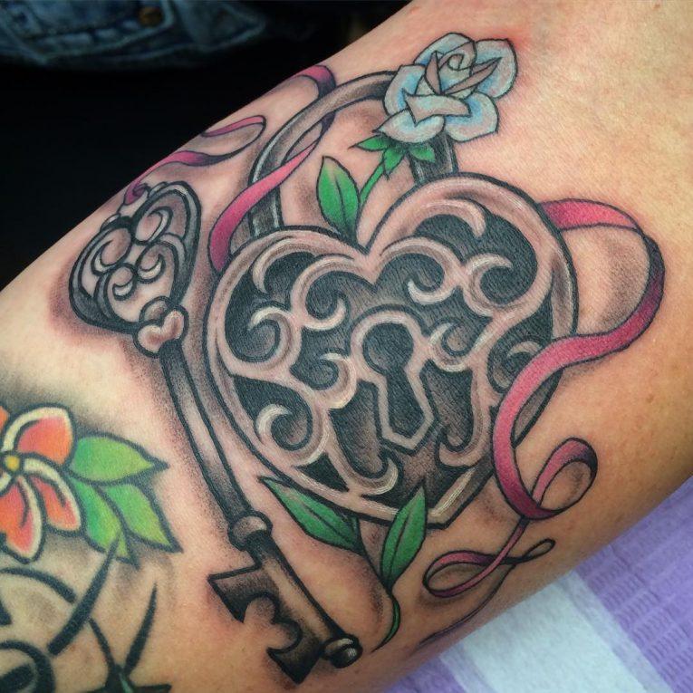 Lock and Key Tattoo 84