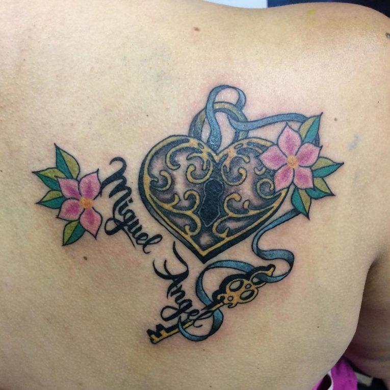 Lock and Key Tattoo 85