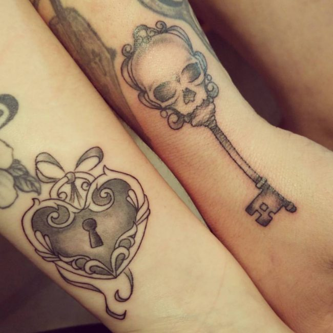 Lock and Key Tattoo