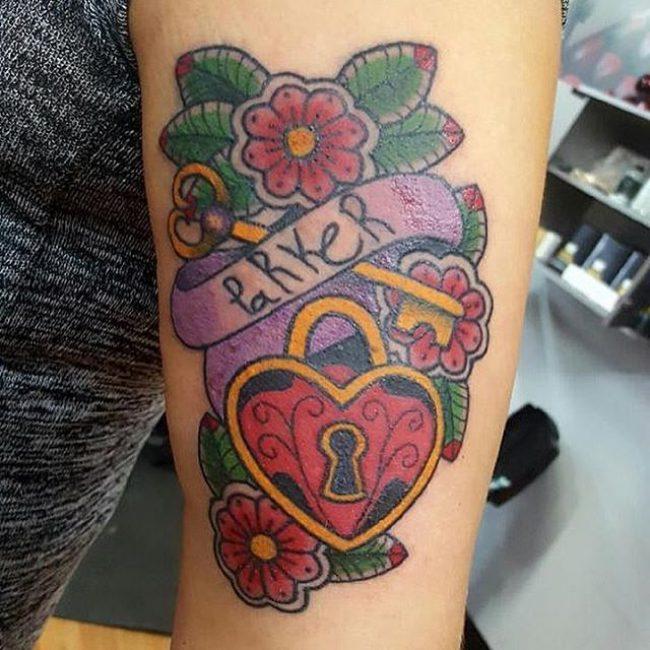 Lock and Key Tattoo_