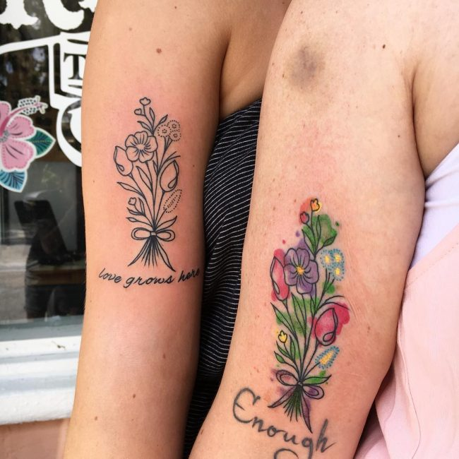 Mother Daughter Tattoo 80