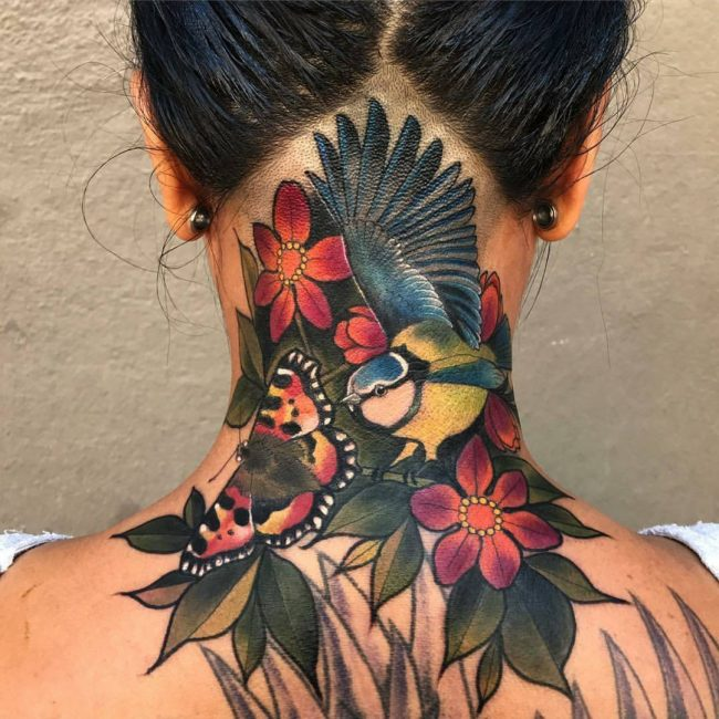 Neck Tattoo 56