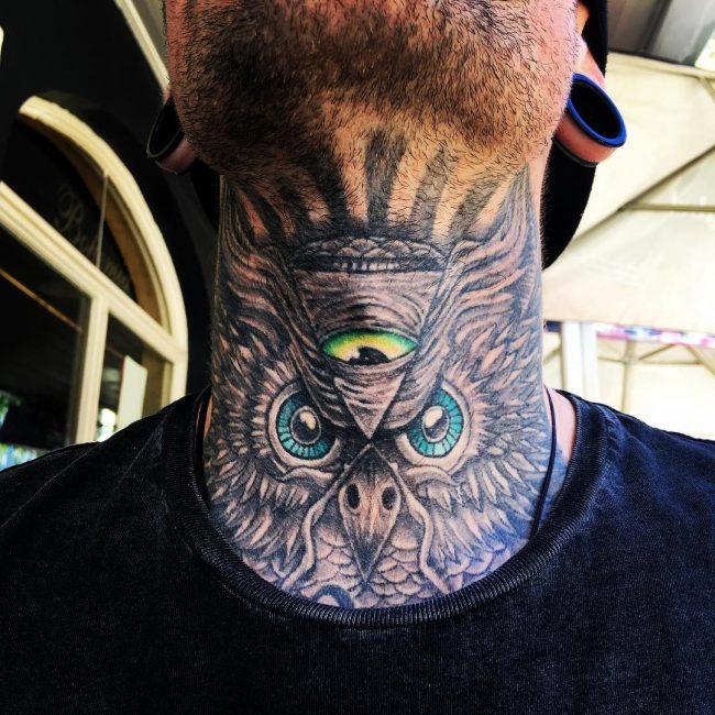Neck Tattoo 58