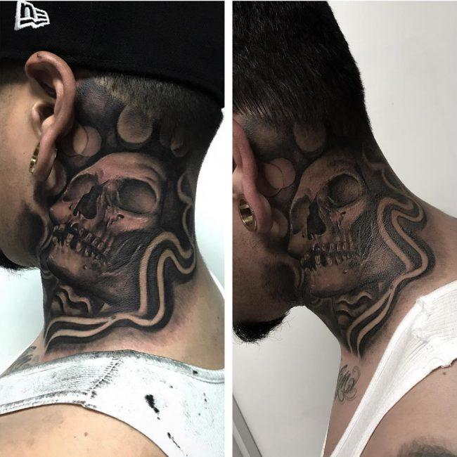 Neck Tattoo 62
