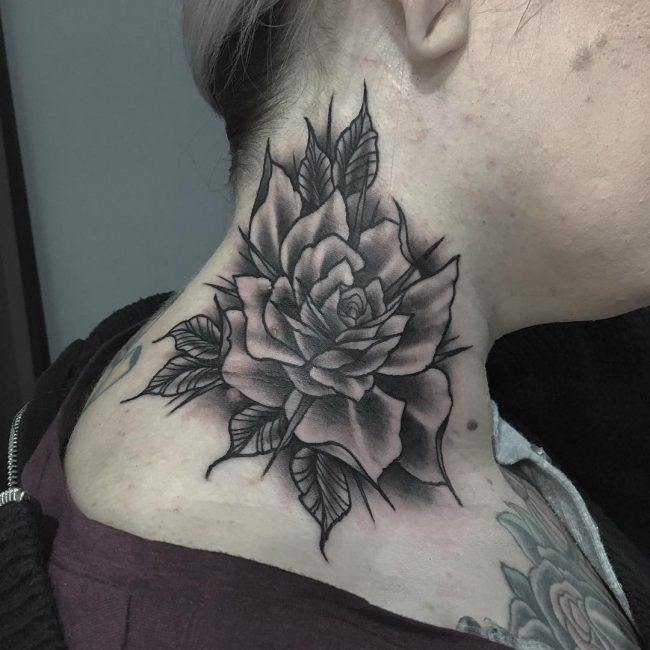 Neck Tattoo 63