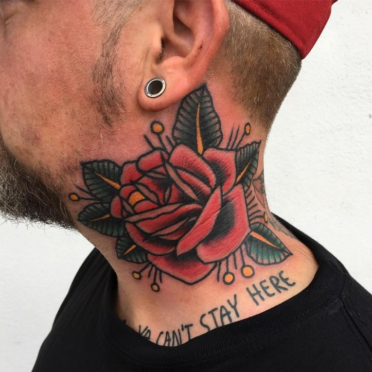 Neck Tattoo 68