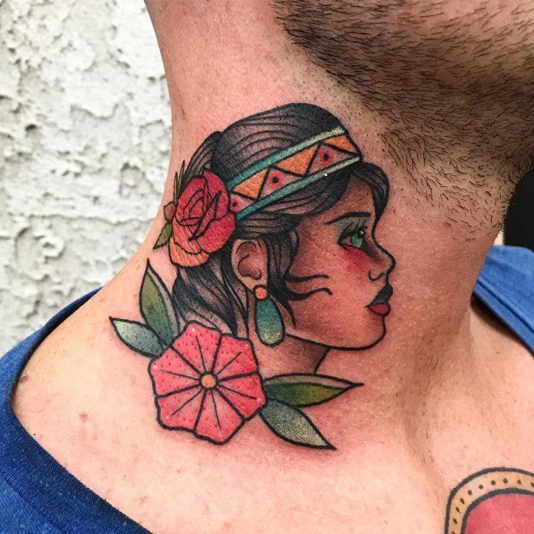Neck Tattoo 74