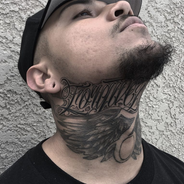 Neck Tattoo 77