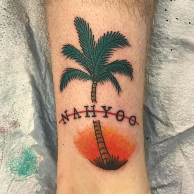 Palm Tree Tattoo 105