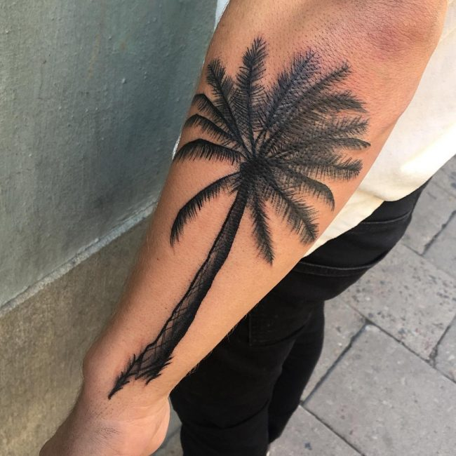 Palm Tree Tattoo 108