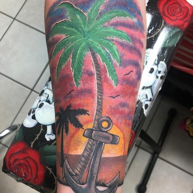 Palm Tree Tattoo 109