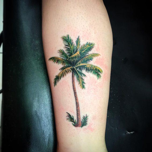 Palm Tree Tattoo 110