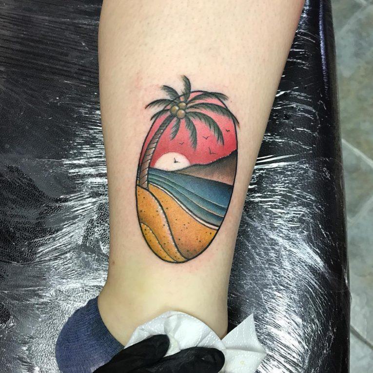 Palm Tree Tattoo 112
