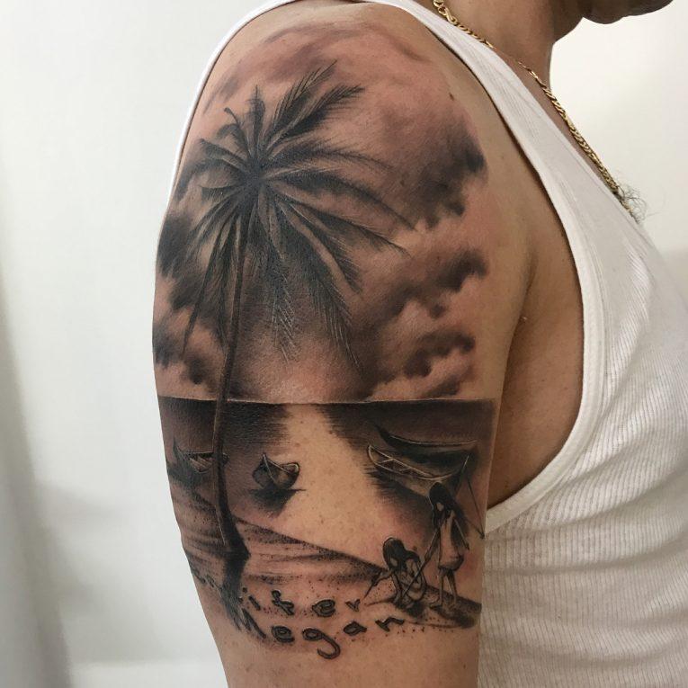 Palm Tree Tattoo 115