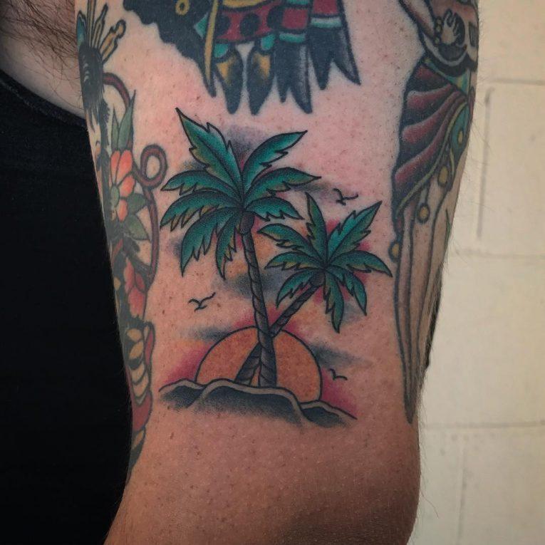Palm Tree Tattoo 116