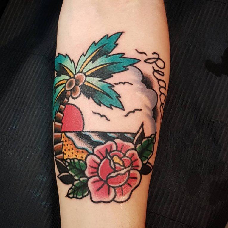 Palm Tree Tattoo 117