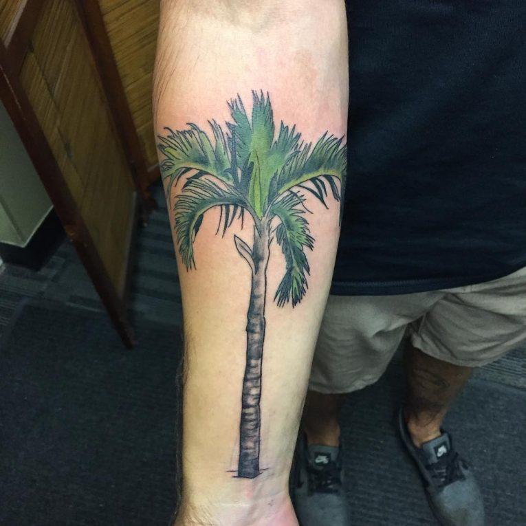 Palm Tree Tattoo 118