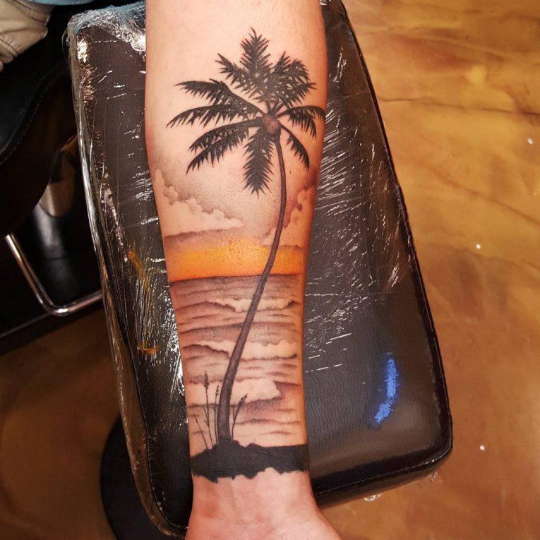 Palm Tree Tattoo 120