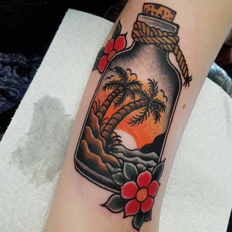 Palm Tree Tattoo 122