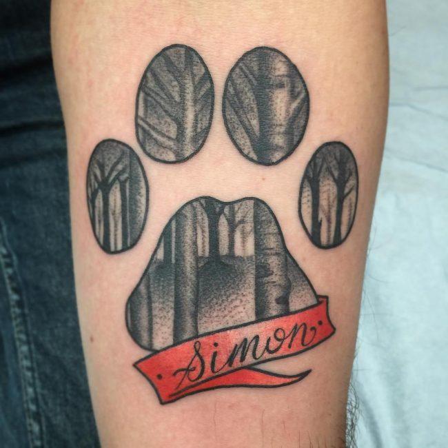 Paw Print Tattoo 73